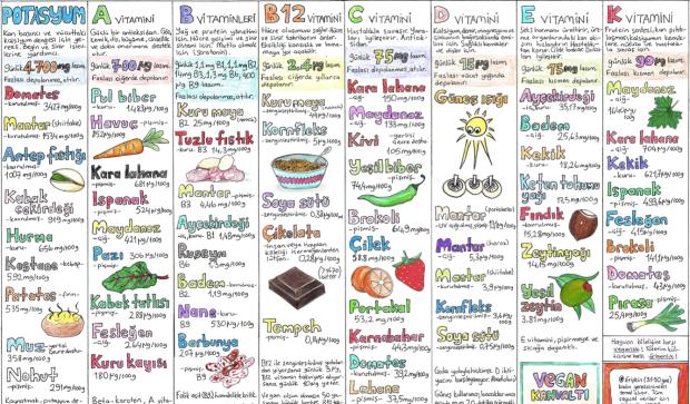 bitkisel kaynaklı besinlerin besin değerleri 2